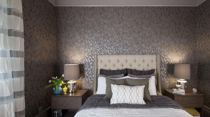 Kertas Dinding Kelabu Di Dalam Bilik Tidur