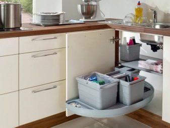 Almari Sudut Untuk Sinki Dapur
